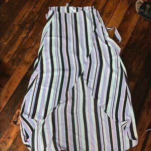 Hi-Low Striped Skirt